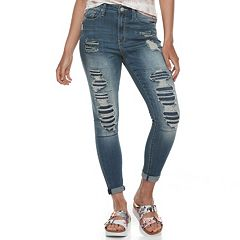 Juniors' Mudd® High-Rise Destructed Jeggings