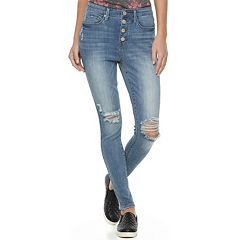 Juniors' Mudd® High Waist Button Fly Jeggings