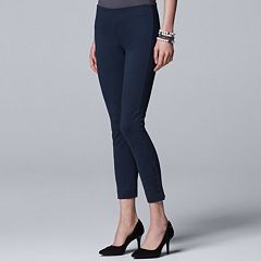 Women's Simply Vera Vera Wang Button Accent Pull-On Skinny Pants