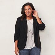 Plus Size LC Lauren Conrad Notch Collar Blazer