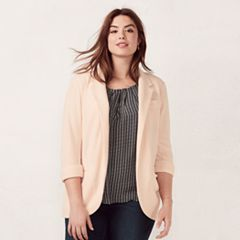 Plus Size LC Lauren Conrad Notch Collar Blazer