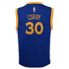 Boys 8-20 Golden State Warriors Stephen Curry Replica Road Jersey