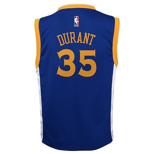 new product 3c551 db18f Boys 8-20 Golden State Warriors Kevin Durant Replica Road ...