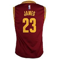 Boys 8-20 Cleveland Cavaliers LeBron James Replica Road Jersey
