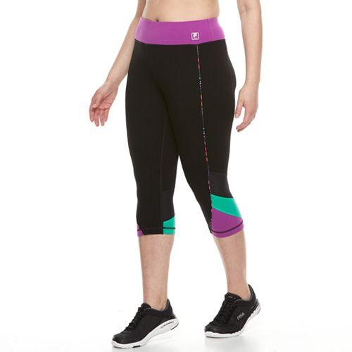 9098060382f99 Plus Size FILA SPORT® Color Block Capri Leggings