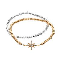 LC Lauren Conrad Starburst Beaded Stretch Bracelet Set