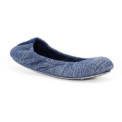 Women's Dearfoams Variegated Knit Ballet Slippers