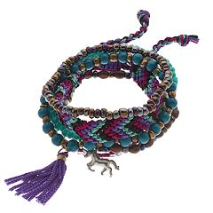Mudd® Unicorn & Tassel Beaded Stretch Bracelet Set