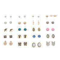 Mudd® Butterfly, Bird & Arrow Nickel Free Stud Earring Set