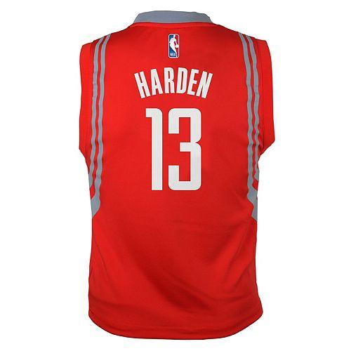 sale retailer 4a01e a8cd4 Boys 8-20 Houston Rockets James Harden Replica Road ...