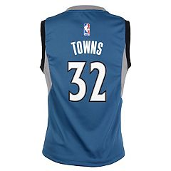 Boys 8-20 Minnesota Timberwolves Karl-Anthony Towns Replica Road Jersey
