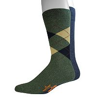 Men's Dockers 2-pack Argyle & Solid Dress Socks