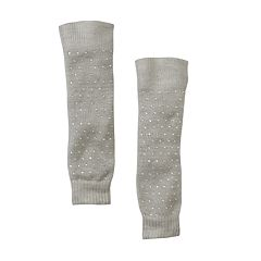 Girls 4-16 Solid Knit Rhinestone Legwarmers