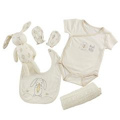 Baby Aspen 5-pc. Bunny Welcome Home Bodysuit, Bib & Blanket Gift Set