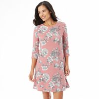 Women's Apt. 9® Floral French Terry Dress