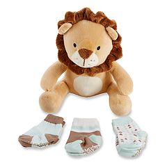 Baby Aspen Ryan the Lion Plus Plush Socks Set