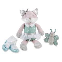 Baby Aspen Fiona the Fox Plush Plus Socks and Rattle Set