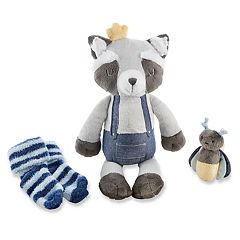 Baby Aspen Rusty the Raccoon Plush Plus Socks and Rattle Set