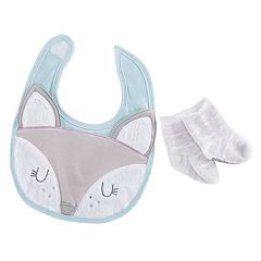 Baby Aspen Forest Friends Fancy Fox Bib and Socks Set