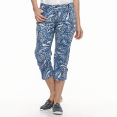 Women's Croft & Barrow® Cuffed Jean Capris