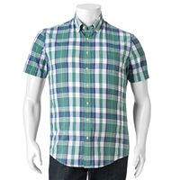 Big & Tall SONOMA Goods for Life™ Modern-Fit Plaid Poplin Button-Down Shirt