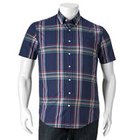 Big & Tall SONOMA Goods for Life™ Modern-Fit Plaid Poplin Button-Down Shirt