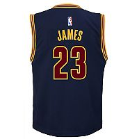 Boys 8-20 Cleveland Cavaliers LeBron James Replica Alternate Jersey