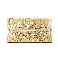 Simple Pleasures Gold Glitter Cosmetic Travel Set