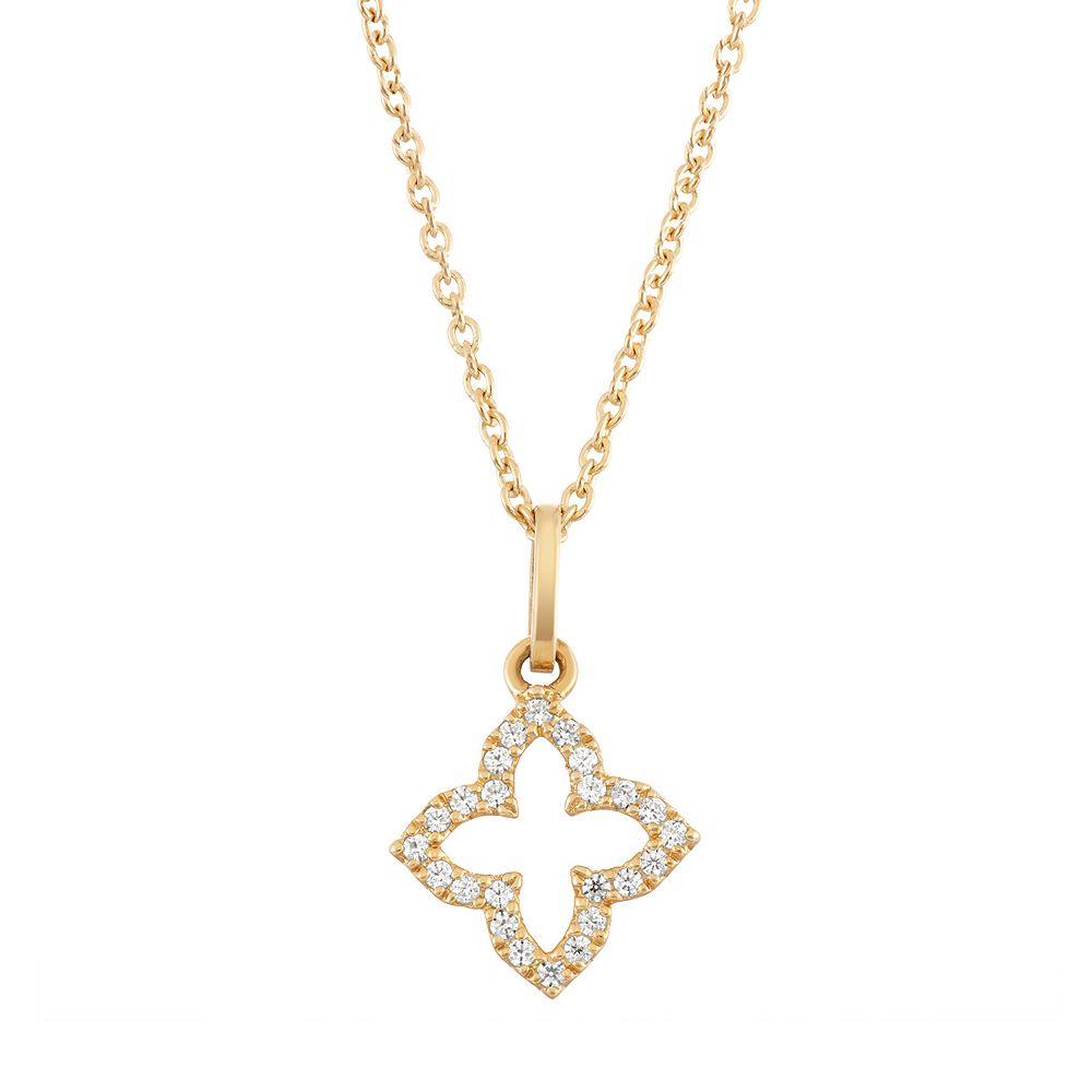 10k white gold 110 carat tw diamond flower pendant necklace aloadofball Gallery