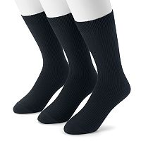 Men's Dockers 3-pack Lightweight Ribbed Crew Socks