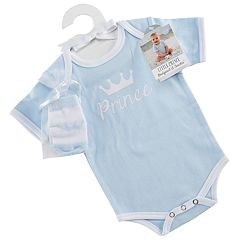 Baby Aspen Little Prince Bodysuit and Socks Set