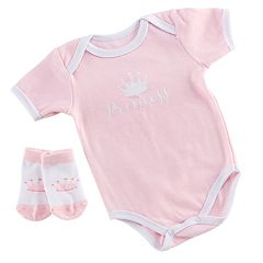 Baby Aspen Little Princess Bodysuit and Socks Set