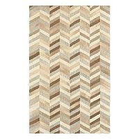 StyleHaven Indie Textured Chevron Wool Rug