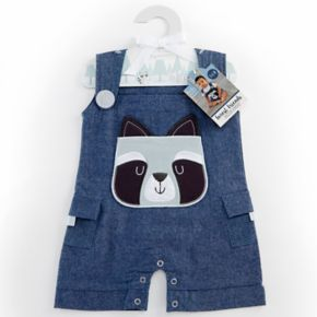Baby Aspen Forest Friends Raccoon Romper