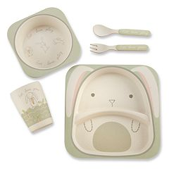 Baby Aspen Natural Baby Bunny 5 pc Feeding Set
