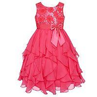 Girls 7-16 American Princess Sequin Bodice & Corkscrew Skirt Dress