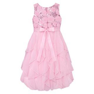 Girls Plus Size American Princess Sequin Bodice & Corkscrew Skirt Dress