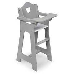 Badger Basket Gray Doll High Chair