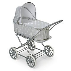 Badger Basket Just Like Mommy Gray 3-in-1 Doll Stroller