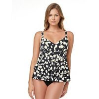 Women's Croft & Barrow® Tummy Slimmer Tiered Swimdress