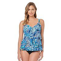 Women's Croft & Barrow® Tummy Slimmer Tiered Swimdress