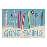Liora Manne Frontporch ''Gone Skiing'' Indoor Outdoor Rug