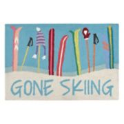 Liora Manne Frontporch ''Gone Skiing'' Indoor Outdoor Rug