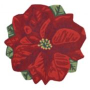 Liora Manne Frontporch Poinsettia Indoor Outdoor Rug
