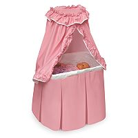 Badger Basket Kisses Rocking Doll Bassinet