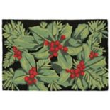 Liora Manne Frontporch Hollyberries Indoor Outdoor Rug