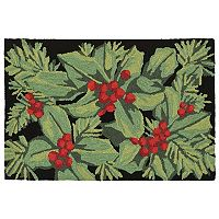 Trans Ocean Imports Liora Manne Frontporch Hollyberries Indoor Outdoor Rug