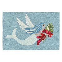 Trans Ocean Imports Liora Manne Frontporch Mermangel Indoor Outdoor Rug