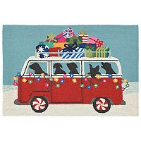 Liora Manne Frontporch Happy Howlidays Indoor Outdoor Rug