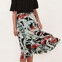 Women's LC Lauren Conrad Tiered Midi Skirt